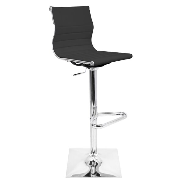 Cadoz Adjustable Height Swivel Bar Stool by Wade L