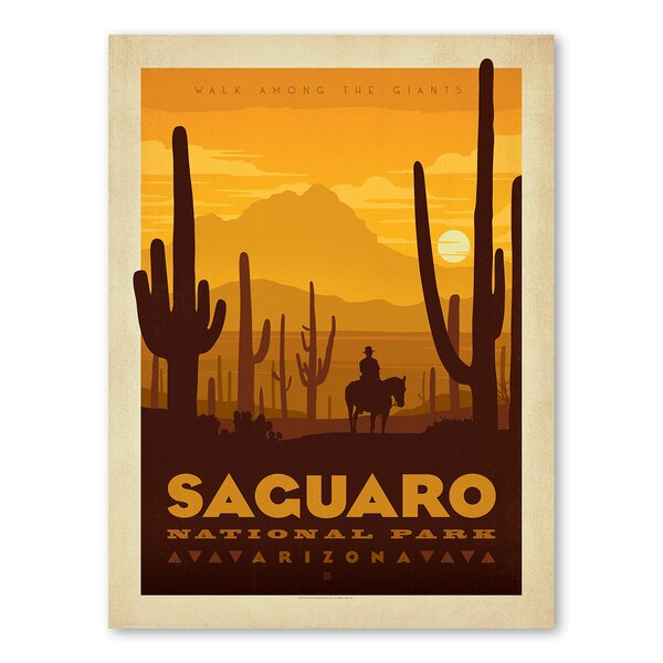 National Park Saguaro Vintage Advertisement by Americanflat