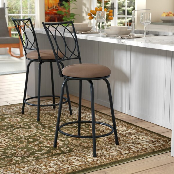 Lanark 24 Swivel Bar Stool by Andover Mills