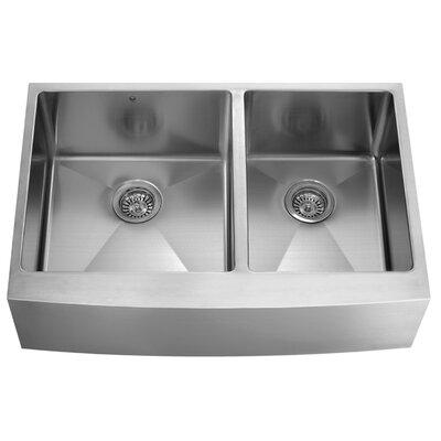 bingham 36   x 22   double basin farmhouse apron kitchen sink vigo bingham 36   x 22   double basin farmhouse apron kitchen sink      rh   wayfair com