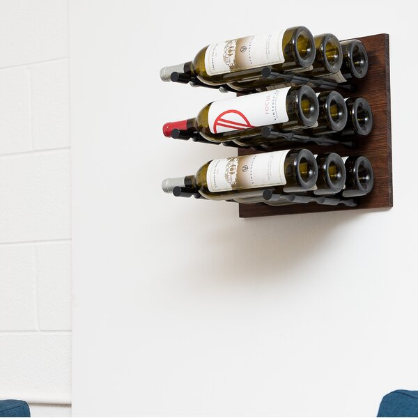 9 Bottle Wall Mounted Wine Rack by VintageView