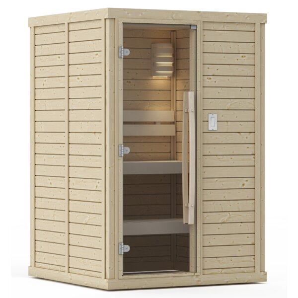 Goldstar Pre- Built 2 Person Traditional Steam Sauna by Premium Saunas