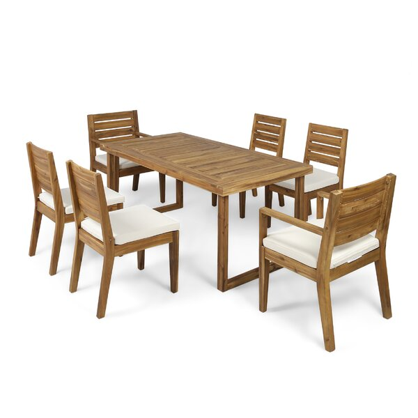 Stein 7 Piece Dining Set with Cushions by Ivy Bronx