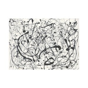 Number 14: Gray by Jackson Pollock Graphic Art by McGaw Graphics