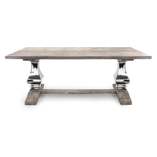 Rodin Solid Wood Dining Table by Bloomsbury Market