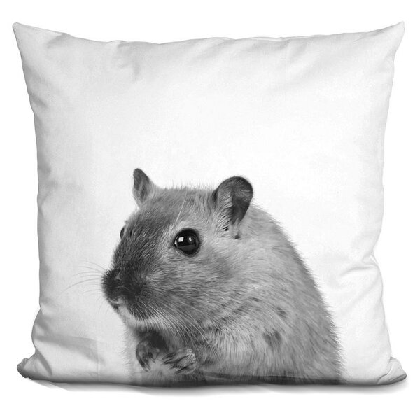 Jamil Mouse Throw Pillow by Wrought Studio