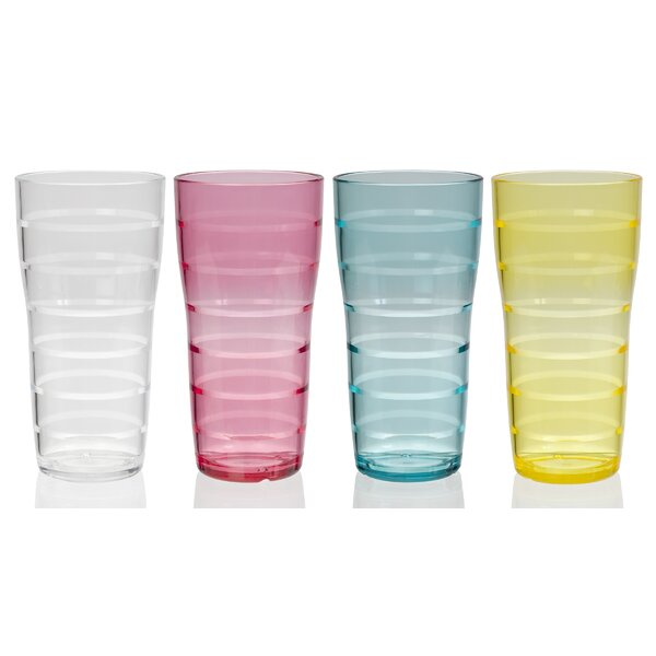 Veronica Lemonade 26 oz. Acrylic Every Day Glasses (Set of 8) by Ebern Designs