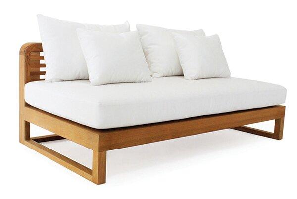 Hamilton Double Teak Chaise Lounge with Cushion
