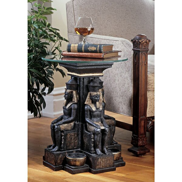 Ramses II Egyptian Sculptural End Table By Design Toscano