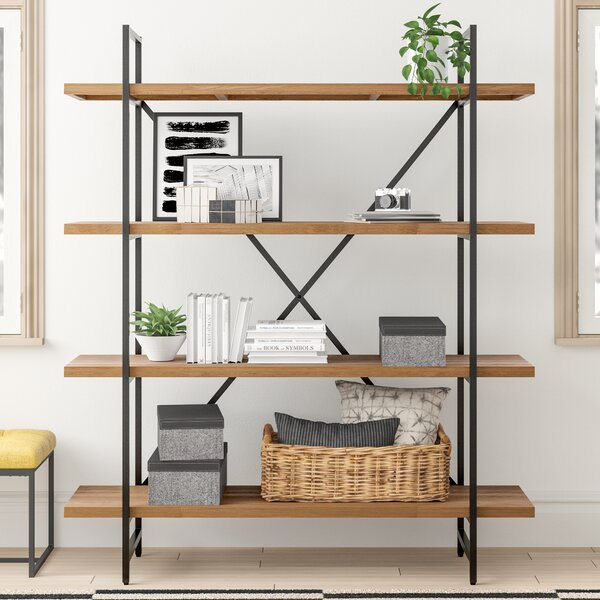 Review Champney Modern Etagere Bookcase