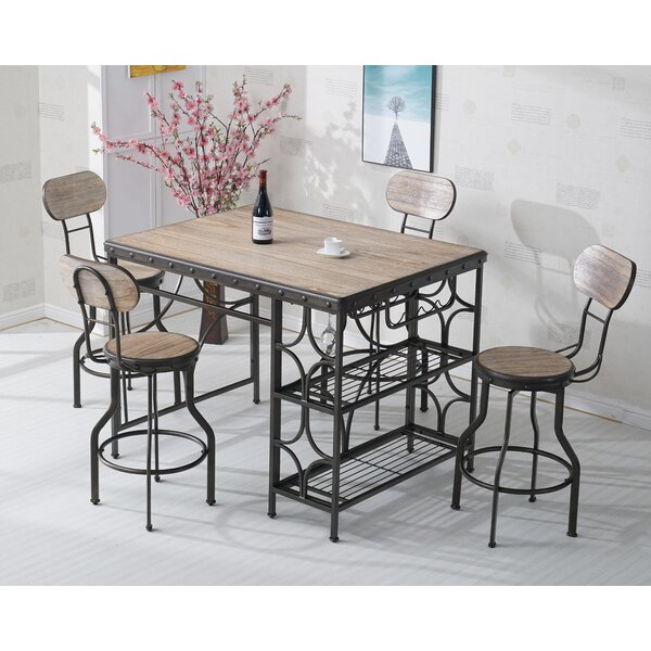 Rosas 5 Piece Dinning Set by 17 Stories
