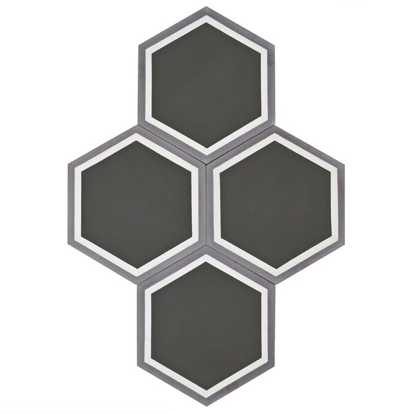 Ciment 7.88 x 9 Cement Field Tile in Gray by EliteTile