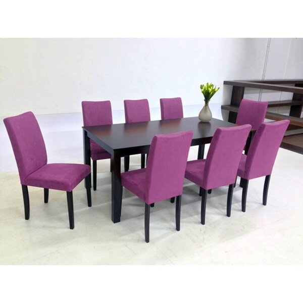 Juno 9 Piece Solid Wood Dining Set by Warehouse of Tiffany Warehouse of Tiffany