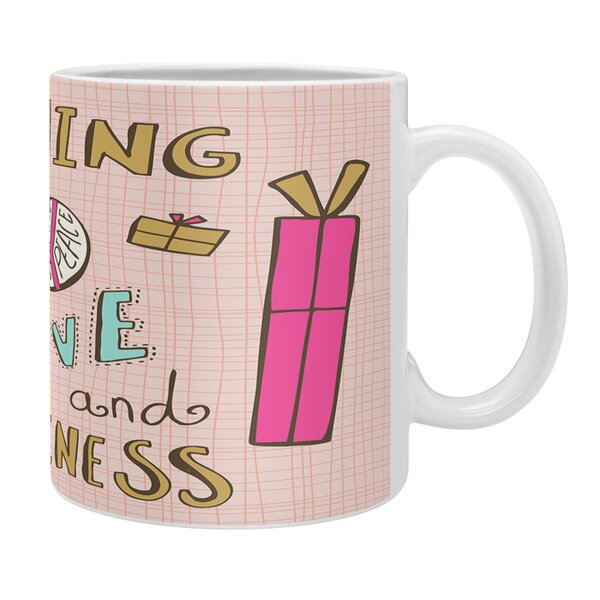 Spence Peace Love and Happiness Coffee Mug by Ivy Bronx