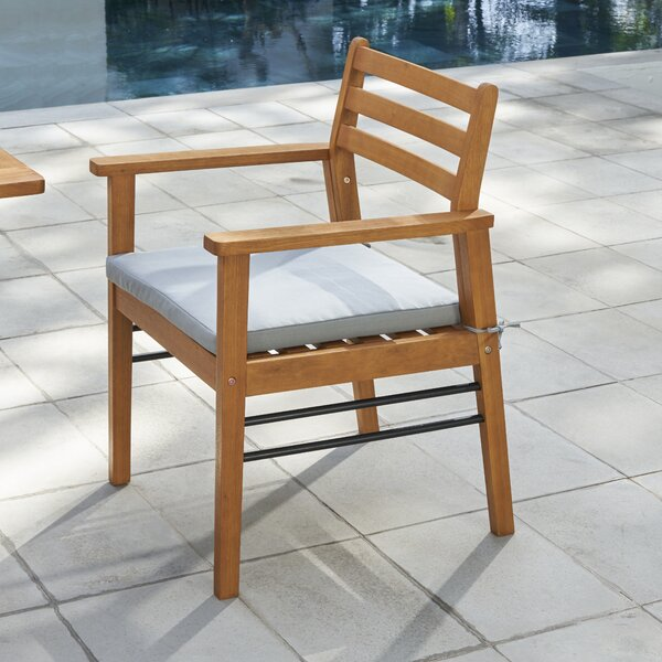 Mcevoy Patio Dining Chair with Cushion by Rosecliff Heights Rosecliff Heights