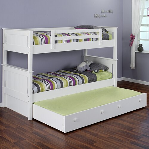 Edick Twin Bunk Bed with Ladder and Trundle by Harriet Bee