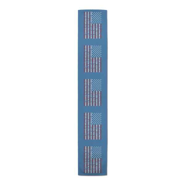 Wilson-Best USA State Names Table Runner by Red Barrel Studio