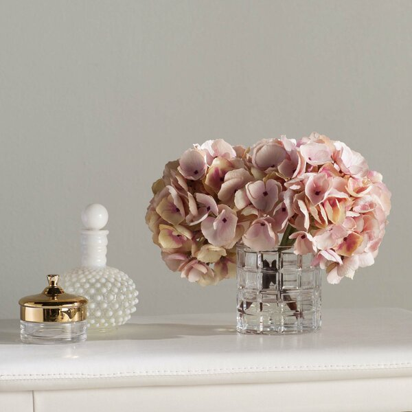 Soft Hydrangea Floral Arrangement by Willa Arlo Interiors