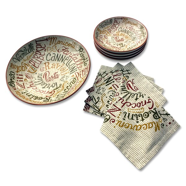 Jeanie Pasta 9 Piece Dinnerware Set, Service for 4 by Fleur De Lis Living