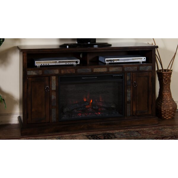 Goldfield 54 TV Stand with Fireplace by Loon Peak