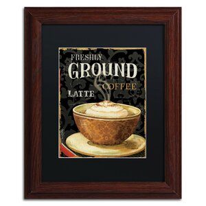 Today's Coffee II by Lisa Audit Framed Vintage Advertisement by Trademark Fine Art