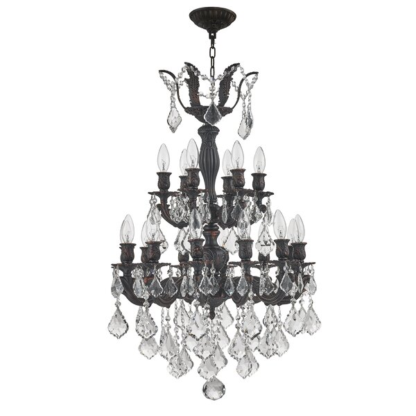 Reba 18-Light Candle Style Tiered Chandelier by Astoria Grand Astoria Grand
