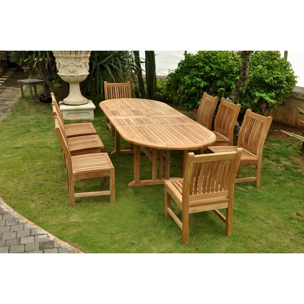 Boyette 9 Piece Teak Dining Set by Freeport Park