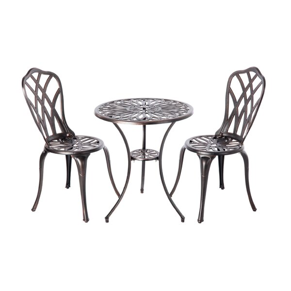 Theon 3 Piece Bistro Set by PatioSense