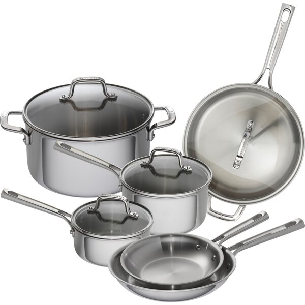 10 Piece Tri-Ply Stainless Steel Cookware Set by Emeril Lagasse
