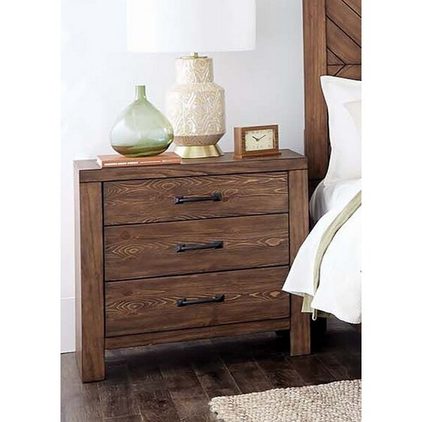 Ballew 3 Drawer Nightstand by Foundry Select