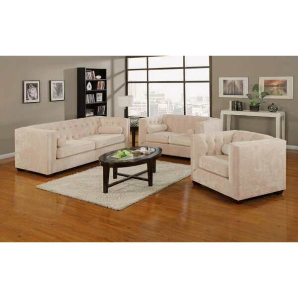 Kulick 3 Piece Living Room Set by House of Hampton