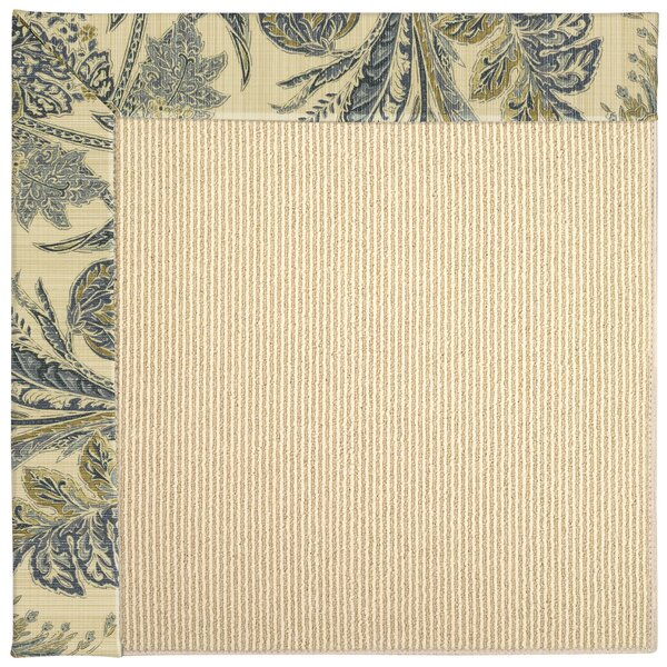 Lisle Machine Tufted High Seas/Beige Indoor/Outdoor Area Rug by Longshore Tides