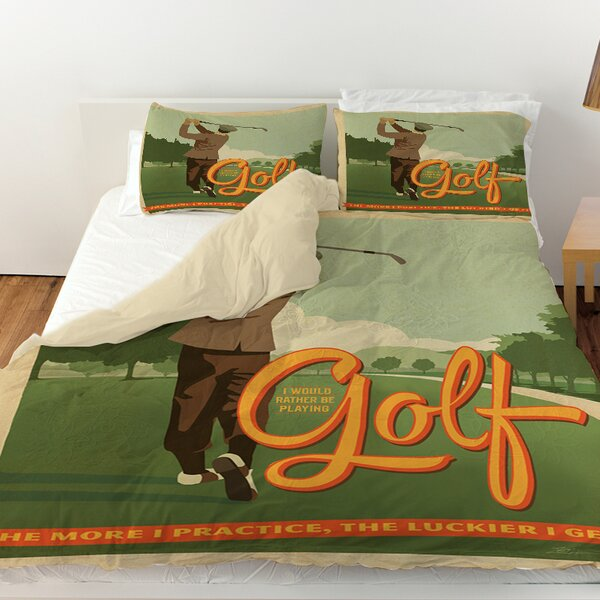 Golf Bad Day Duvet Cover by Manual Woodworkers & Weavers