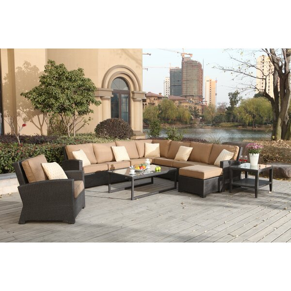 Stockholm 9 Piece Sectional Set with Cushions by Alcott Hill