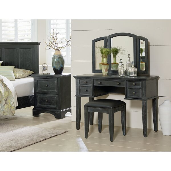 Farmhouse Vanity Set with Mirror by Inspired by Bassett