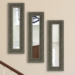 Astoria Grand Opulent Panel Accent Mirror (Set of 3)