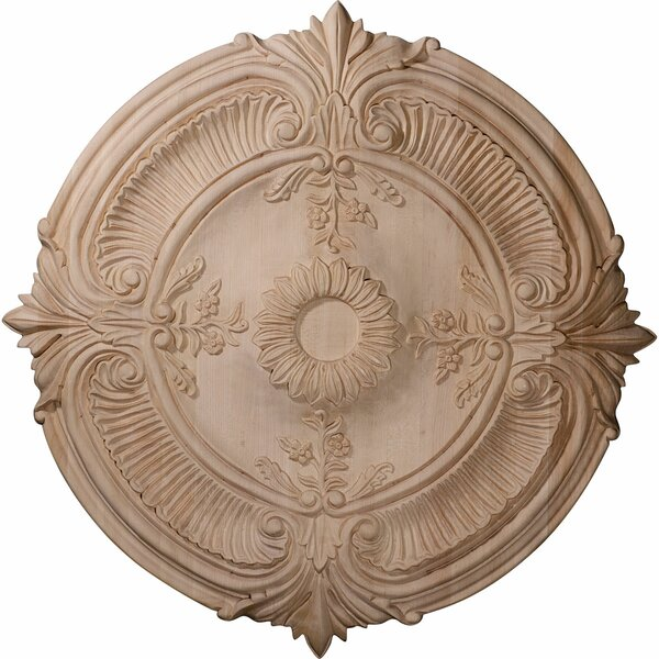 Acanthus Leaf 24H x 24W x 2.25D Carved Cherry Ceiling Medallion by Ekena Millwork