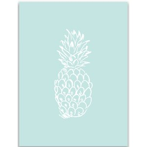 Mint Pineapple Wall Art Print by Jetty Home