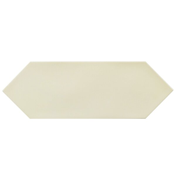 Volant 4 x 11.75 Porcelain Field Tile in Cream by EliteTile