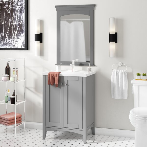 Aguilar 24 Single Vanity Set with Mirror by Mercury Row