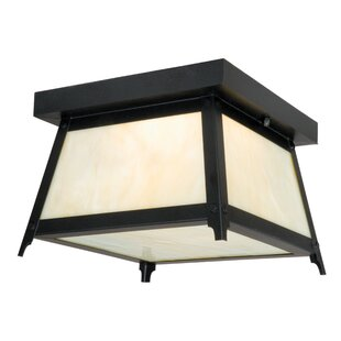 Check Prices Porras 2-Light Outdoor Flush Mount By Loon Peak