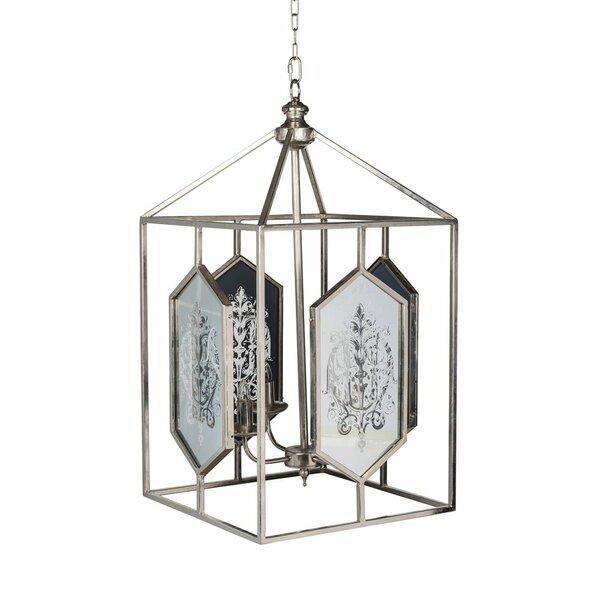 Stewart 4 - Light Lantern Rectangle Chandelier by One Allium Way One Allium Way