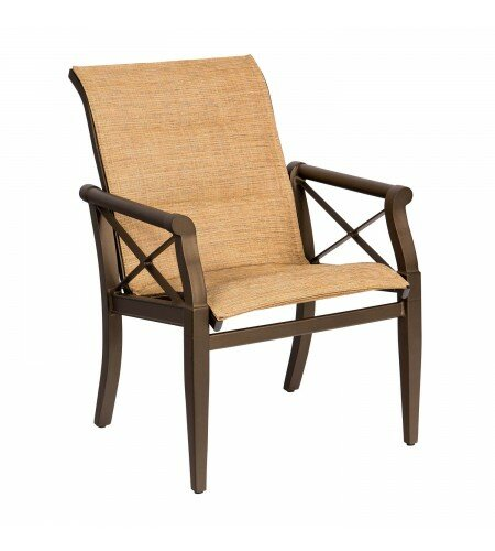 Andover Sling Patio Dining Chair by Woodard