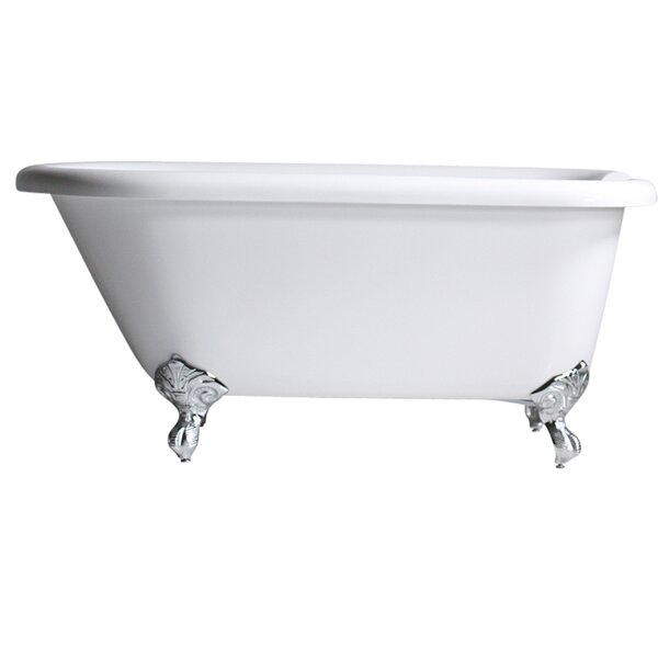 Hotel Acrylic Classic 59 x 32 Freestanding Soaking Bathtub by Baths of Distinction