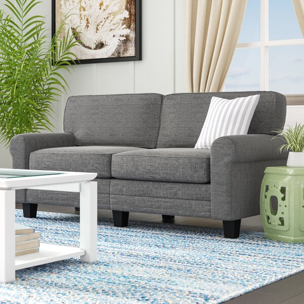 Best #1 Buxton Rolled Arm Sofa By Beachcrest Home Modern