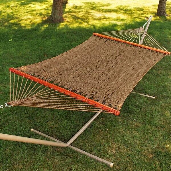 Tight Weave Soft Tan Polyester Rope Hammock by Algoma Net Company