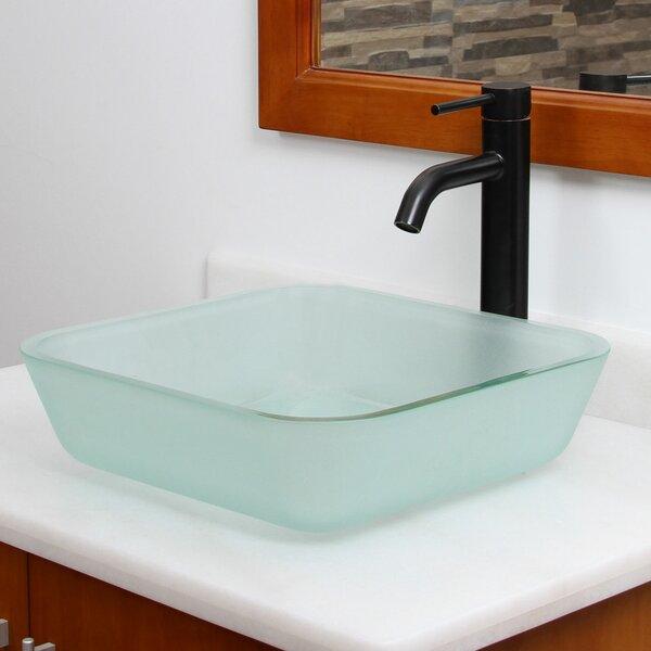 Elite Glass Square Vessel Bathroom Sink by Elimaxs