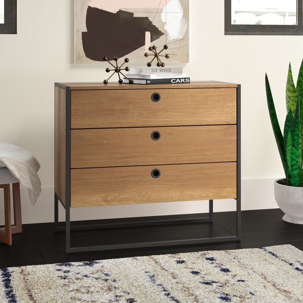 Deshawn 3 Drawer Accent Chest by Langley Street