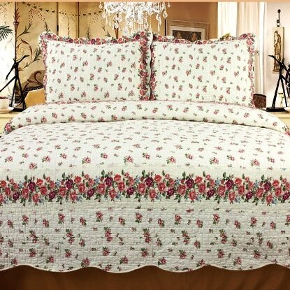 Rose Chic 3 Piece Reversible Quilt Set by Home Sensation