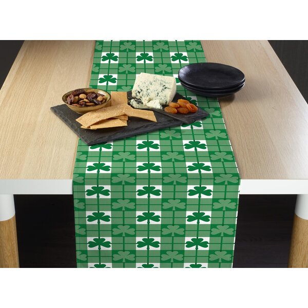 Evart Shamrock Check Table Runner by The Holiday Aisle
